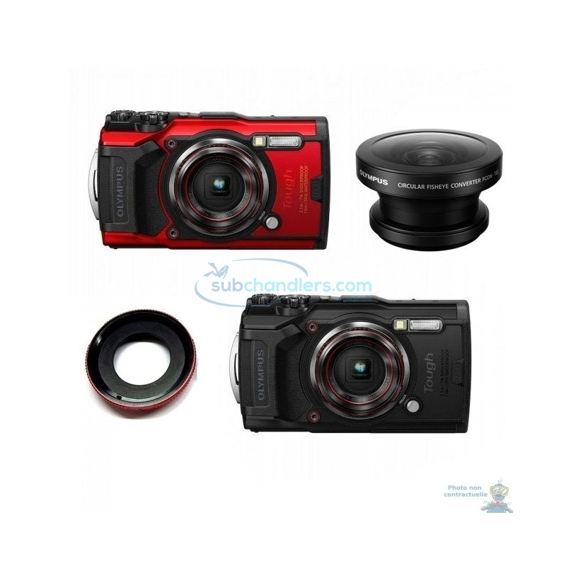 Pack snorkeling Olympus TG-6 et grand-angle FCON-T02