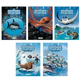 Collection Les animaux marins en BD - Tome 1 à 5